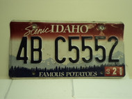 2009 IDAHO Famous Potatoes License Plate 4B C5552