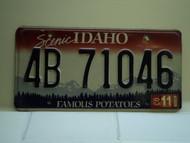 2003 IDAHO Famous Potatoes License Plate 4B 71046 1