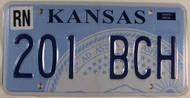 Rento Co Kansas 201 BCH License Plate