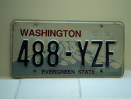 Washington Evergreen State License Plate 488 YZF
