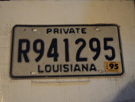 1995 LOUISIANA PRIVATE License Plate R941295