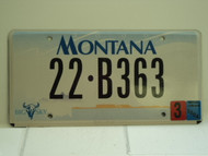 2004 MONTANA Big Sky License Plate 22 B363