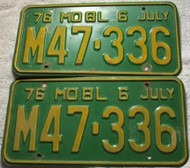 PAIR 1976 July Missouri Truck License Plates