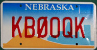 Nebraska Vanity License Plate KB0OQK