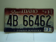 2005 IDAHO Famous Potatoes License Plate 4B 66462