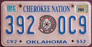 Oklahoma Cherokee Nation 2005 License Plate