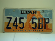 UTAH Life Elevated License Plate Z45 5BP
