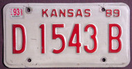Kansas Dealer 1993 License Plate