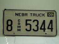 2004 NEBRASKA Commercial Truck License Plate 8 5344