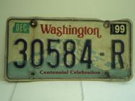 WASHINGTON Centennial Celebration License Plate 30584 R