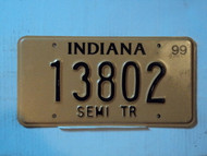 1999 INDIANA SEMI Trailer License Plate 13802
