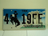 WYOMING Bucking Bronco Devils Tower Truck License Plate 4 19FE