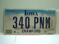 IOWA License Plate 340 PNM