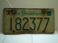 1999 NEW HAMPSHIRE Live Free or Die License Plate 182377