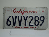 CALIFORNIA Lipstick License Plate 6VVY289