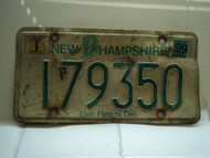 1999 NEW HAMPSHIRE Live Free or Die License Plate 179350