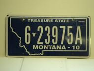 2010 MONTANA License Plate 6 23975A