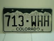 COLORADO License Plate 713 WHH