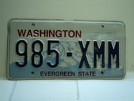 Washington Evergreen State License Plate 985 XMM