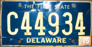 1975 Sep Delaware C44934 License Plate