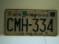1999 NEW HAMPHIRE Live free or Die License Plate CMH 334
