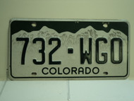 COLORADO License Plate 732 WGO