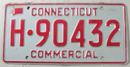 Connecticut Commercial License Plate H-90432