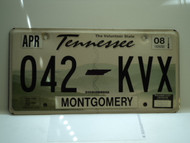 2008 TENNESSEE Volunteer State License Plate 042 KVX