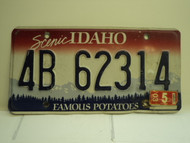 2003 IDAHO Famous Potatoes License Plate 4B 62314