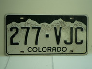 COLORADO License Plate 277 VJC