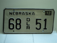 2004 NEBRASKA Dealer License Plate 68 DLR 51