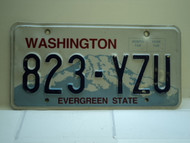 Washington Evergreen State License Plate 823 YZU