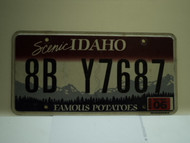 2009 IDAHO Scenic Famous Potatoes License Plate 8B Y7687
