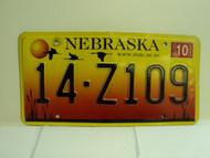 2005 NEBRASKA License Plate 14 Z109