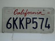 CALIFORNIA Lipstick License Plate 6KKP574