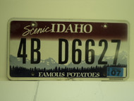 2010 IDAHO Scenic Famous Potatoes License Plate 4B D6627
