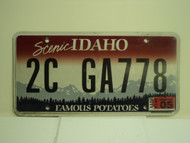 2012 IDAHO Scenic Famous Potatoes License Plate 2C GA778