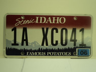 2010 IDAHO Scenic Famous Potatoes License Plate 1A XC041