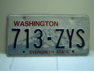 Washington Evergreen State License Plate 713 ZYS