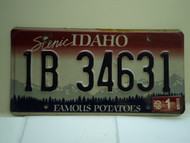 2009 IDAHO Famous Potatoes License Plate 1B 34631