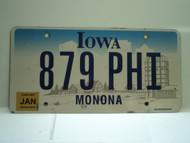 2007 IOWA License Plate 879 PHI