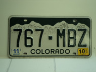 2010 COLORADO License Plate 767 MBZ