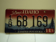 1997 IDAHO Famous Potatoes License Plate 1B 68 169 1