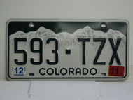 2011 COLORADO License Plate 593 TZX