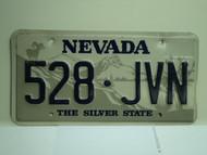 NEVADA Silver State License Plate 528 JVN