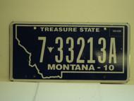 2010 MONTANA License Plate  7 33213A