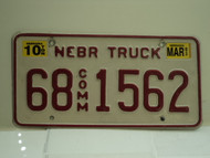 2003 NEBRASKA Commercial Truck License Plate 68 1562