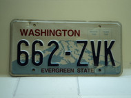 Washington Evergreen State License Plate 662 ZVK