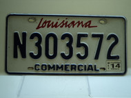 2014 LOUISIANA Commercial License Plate N303572
