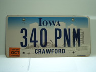 2006 IOWA License Plate 340 PNM